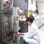 Probenahme am Bioreaktor